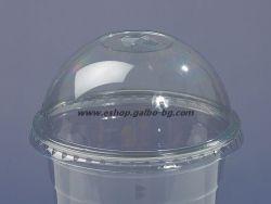 Капак за РЕТ чаша, тип Бомбе с цепка за сламка, 95 мм   1000 бр