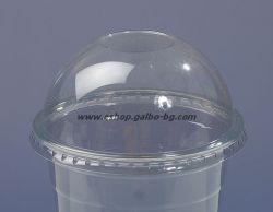 Капак DL94 диаметър 95 мм за РЕТ чаша, тип Бомбе без отвор 1000 бр
