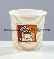 Картонена чаша 4 oz (80 мл) КАФЕ КРЕМ 50/1000 бр