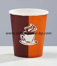 Картонена чаша 7 oz (150 мл) КАФЕ КРЕМ 1000 бр