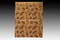 Хартиен плик за закуски 16/5/21 см кафяв маслоустойчив 1000 бр с печат Закуски