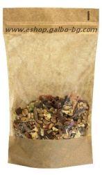 Плик за чай и ядки с прозорец и цип 100 гр, 100 бр