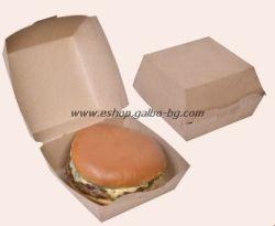 Картонена кутия за сандвичи голяма 11*11*8,5 см, 50 бр.