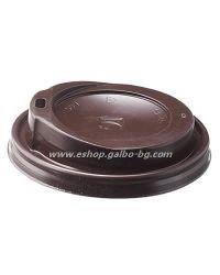 Капак STL 90 мм за картонена чаша 14 / 16 oz - Тъмнокафяв  1000 бр