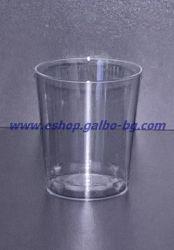Прозрачна (PS) чаша за шот 20 мл 50 бр