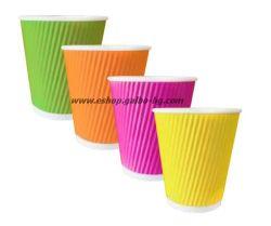 Картонена чаша 8 oz (200 мл) RAINBOW RIPPLE, 500 бр.