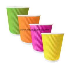 Картонена чаша 14 oz (350 мл) RAINBOW RIPPLE, 500 бр