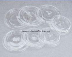 Капак CL95F мм за РЕТ чаша, плосък с цепка за сламка 100 бр