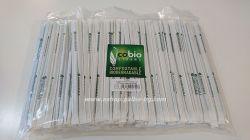 Биоразградими PLA сламки индивидуално опаковани в хартия, прави, т. зелени 20 см / 5 мм  400 бр.