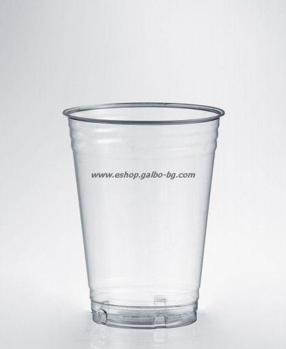 БИО прозрачна чаша PLA 9 оз - 250 мл, висока,100% Compostable
