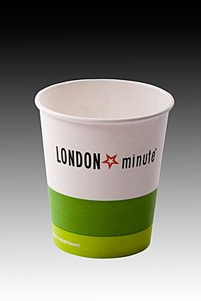 Картонена чаша 8 oz LONDON MINUTE 100 бр.