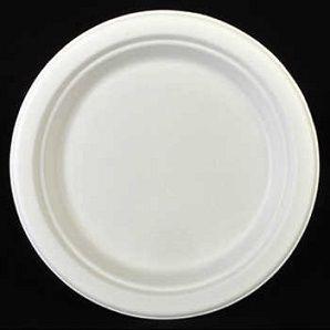 100% биоразградима картонена чиния кръгла 18 см   125 бр