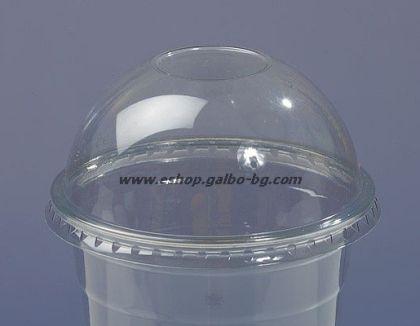 Капак DL94 за РЕТ чаша, тип Бомбе без отвор, 95 мм 1000 бр