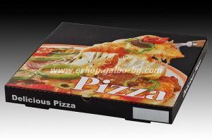 Кутия за пица ЧЕРНА  33,5*33,5*3,5 см 100 бр