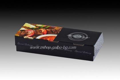 "Картонена кутия за храна ""Special Delivery"" 25,5*10*5,5 см  25 бр"