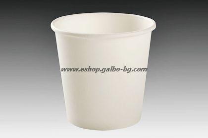 Бяла  картонена чаша 4 oz (80 мл) 1000 бр.