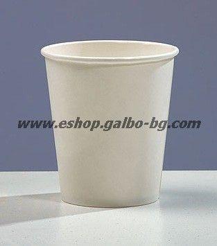 Бяла картонена чаша 8 oz (200 мл)  1000 бр