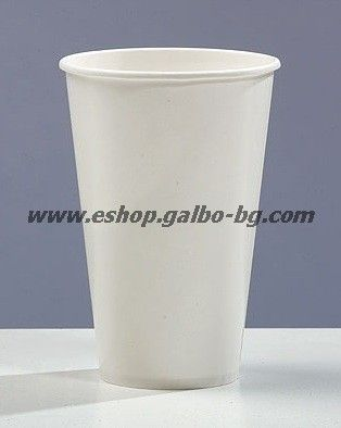 Бяла картонена чаша 12 oz (300 мл) за топли напитки 1000 бр