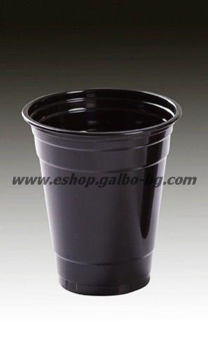 Черна (РЕТ) чаша 12 oz (300/350 мл) 1000 бр
