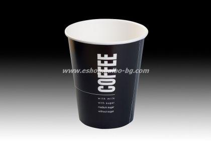 Картонена чаша 14 oz (300 мл) BLACK COFFEE  1000 бр