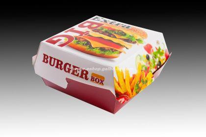 Картонена кутия за сандвичи голяма 11,5*11,5*6,5 см, 50 бр.