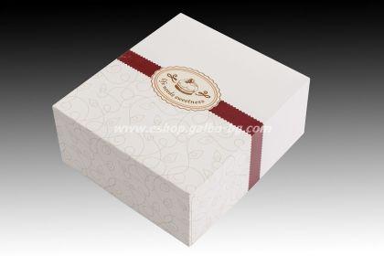 Картонена кутия за 6 парчета торта 19*16*8 см 25 бр. кафява