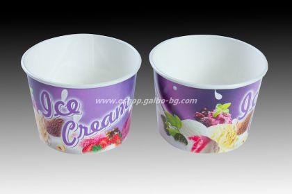 Картонена чаша за сладолед с печат  200 мл  1250 бр
