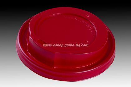 Капак STL 90 мм за картонена чаша 14 / 16 oz - ЧЕРВЕН 1000 бр
