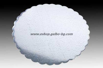 Подложка за торта Сребриста 30 см  10 бр