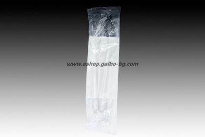 Комплект прозрачни пластмасови прибори - вилица, нож, салфетка 500 бр