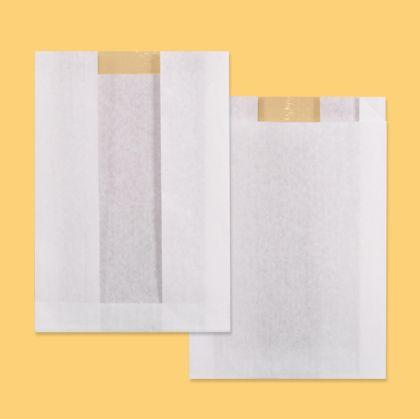 Хартиен плик 16/4/23 см бял с прозорец 100 бр.
