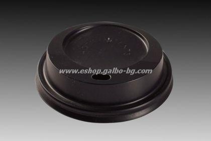Капак STL 70 мм за картонени вендинг чаши 7 и 7,5  oz - ЧЕРЕН  1000 бр