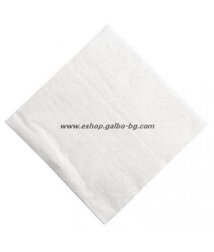 Бели салфетки 25 см, 1500 бр в пакет