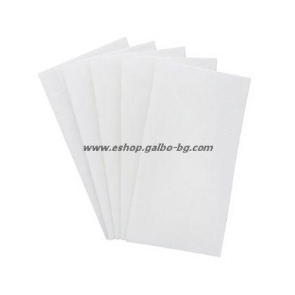 Бели салфетки 1/8, 33 см, 250 бр в пакет