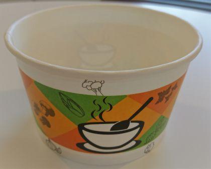 Картонена купа 400 мл за супа с капак GREEN,  500 бр