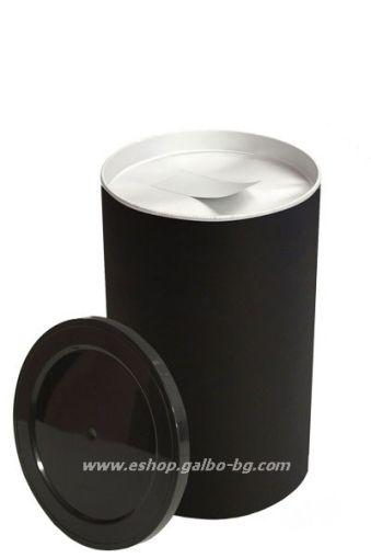 Цилиндрична картонена кутия 400 мл, черна