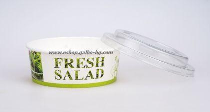 Картонена купа за салата FRESH SALAD  550 мл, с капак  300 бр