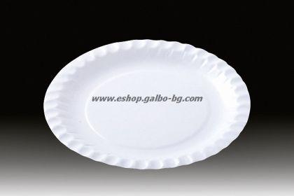 Картонена чиния кръгла 18 см  100 бр