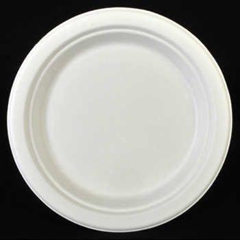 100% биоразградима картонена чиния кръгла 23 см  125 бр
