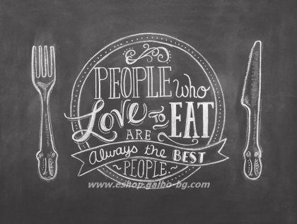 Хартиена подложка за сервиране Love to eat 30*39 см - 500 листа