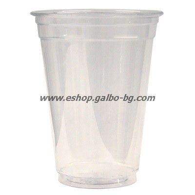 Прозрачна (РЕТ) чаша 9 oz Висока (250 мл) диаметър 80 мм 50 бр