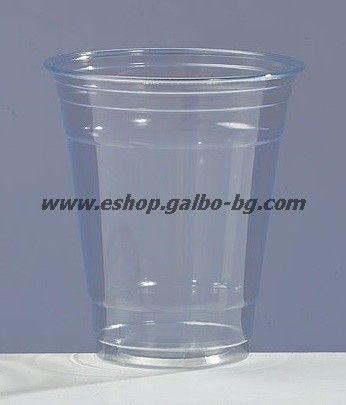 ЕКО Прозрачна (РЕТ) чаша 12 oz (300/350 мл) 50 бр