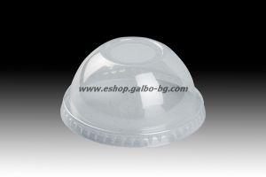 Капак за картонена чаша 90 мм, тип Бомбе с широк отвор  100 бр