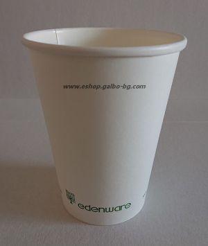 Картонена чаша 12 oz (350 мл) Биоразградима  50 бр