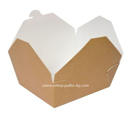 Картонена кутия за храна 1300 мл  200 бр