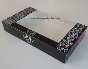 """Картонена кутия голяма """"Sushi"""" 22*13*3,5 см  25 бр"""