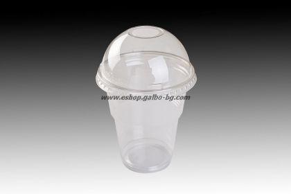 Чаша 300 мл от РЕТ и ЕКО Бомбе капак 95 с широк отвор  1000 бр