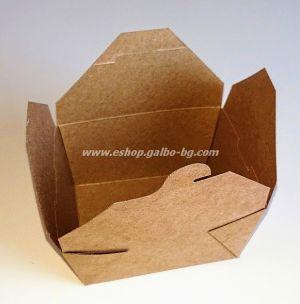 Картонена крафт кутия за храна 1300 мл  50 бр