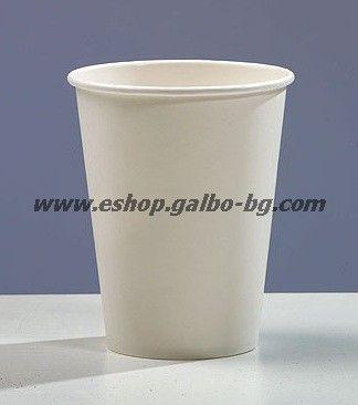 Бяла картонена чаша 14 oz - (350 мл)  1000 бр