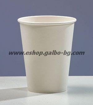 Бяла картонена чаша 14 oz (350 мл)  50 бр